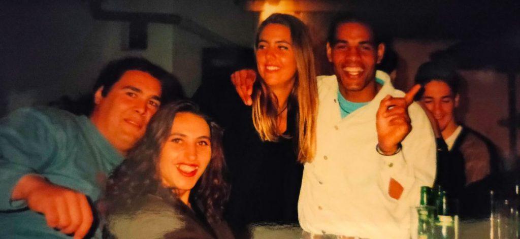 Jose, Suzana, ikzelf en Manque, Abaran, Spanje, 1995,