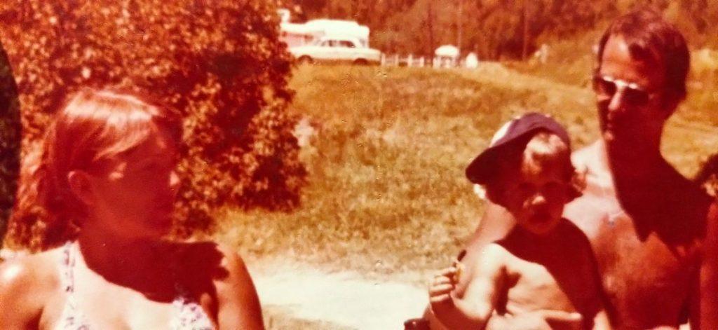 Mama, papa en ik , Camping Bellver, Spanje, 1979